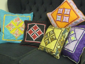 Cathedral window cushions