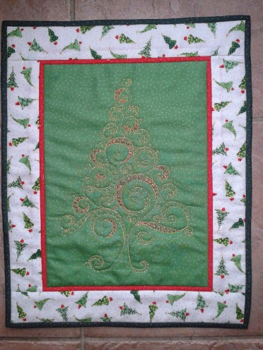 quilted tree hangign