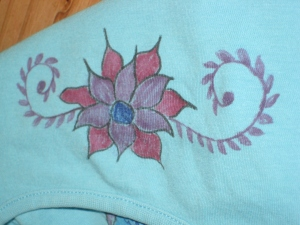 Flower on the t-shirt