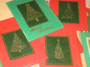 quilted tree handmade card