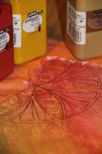 stitched mandala