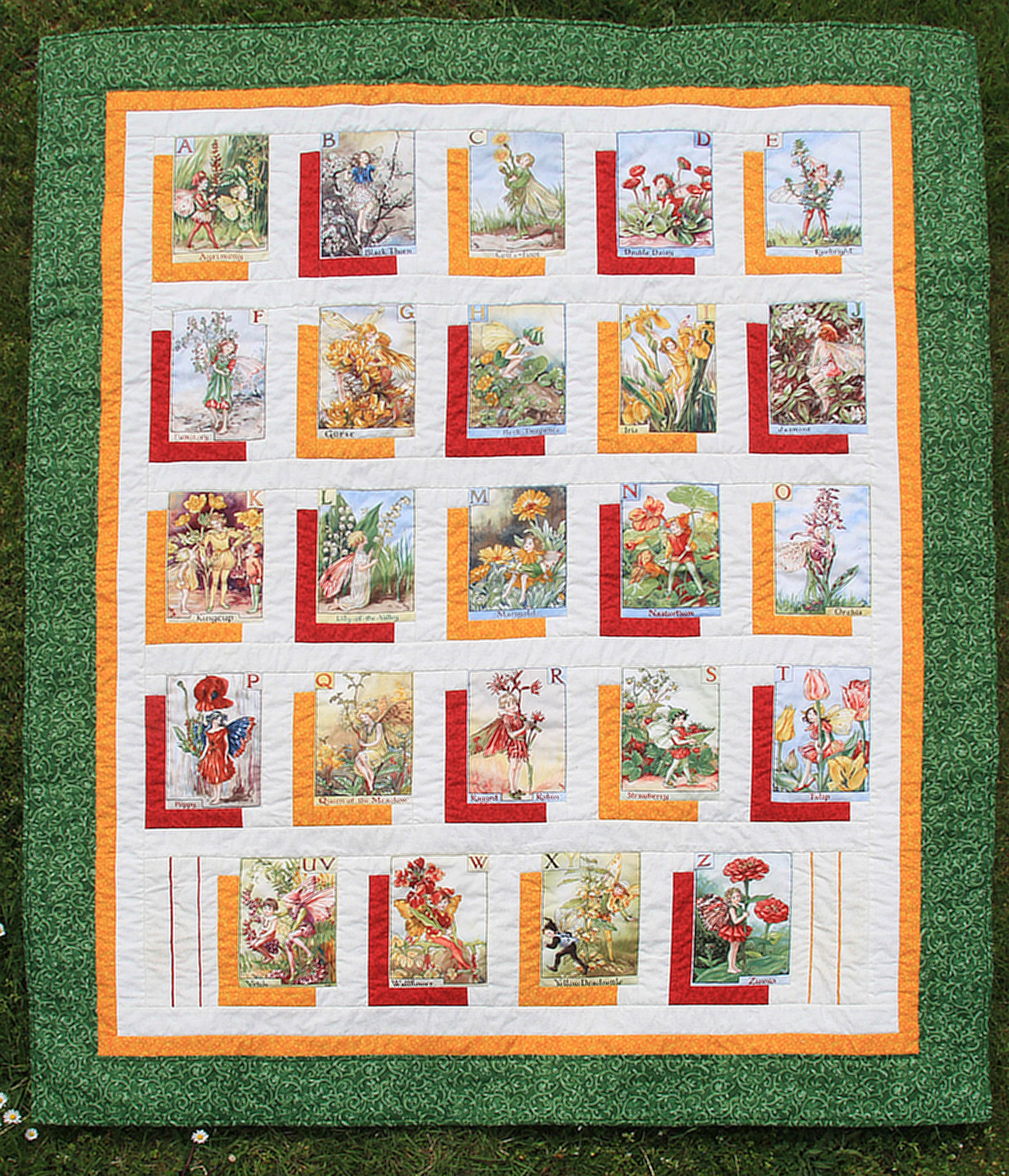 Flower Fairies Alphabet Oliven Patchwork Quilting And