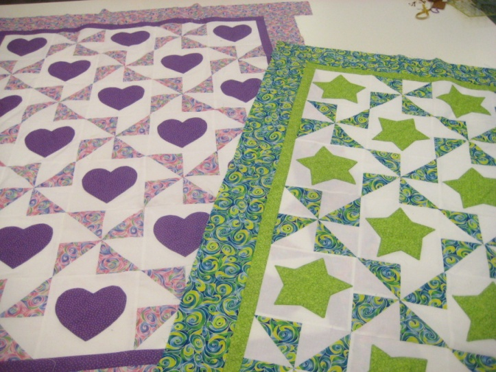cot quilt pinwheel