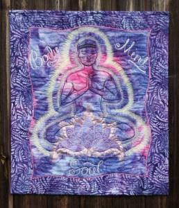 Yogi textile hanging
