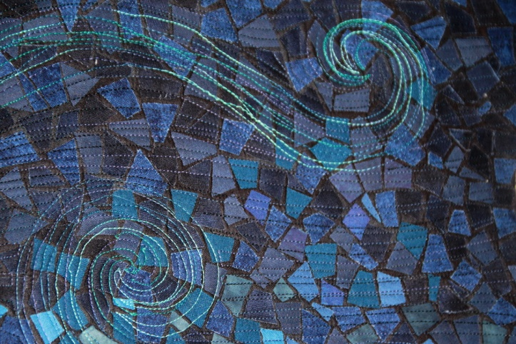 Dragonfly textile mosaic