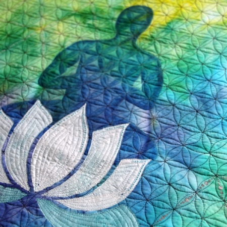 Peaceful yogi - textile art