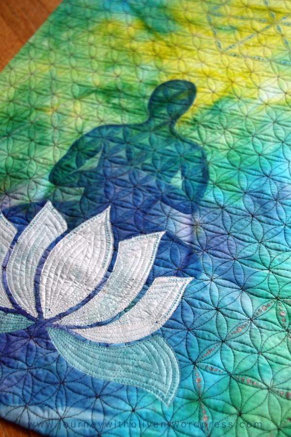 Peaceful yogi - textile art