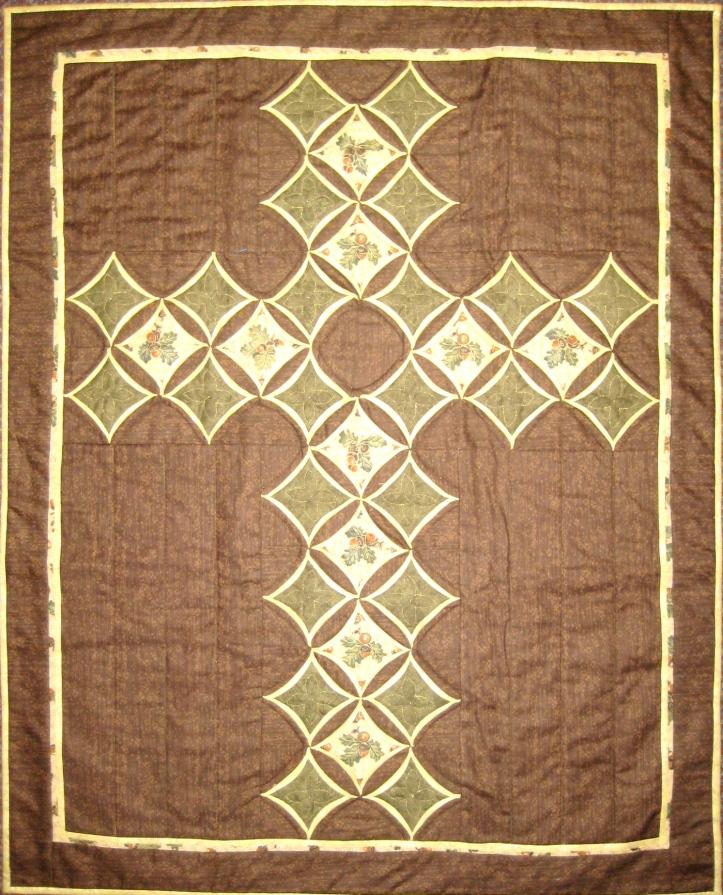 Cathedral window Cross by vendulka battais